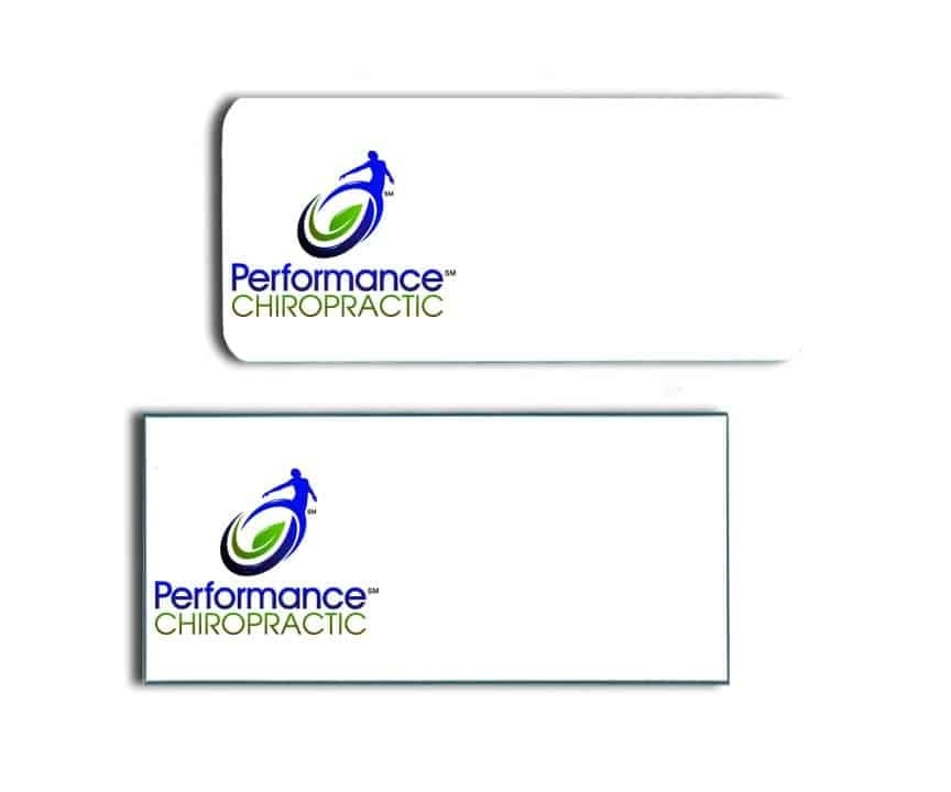 Performance Chiropractic Name Badges