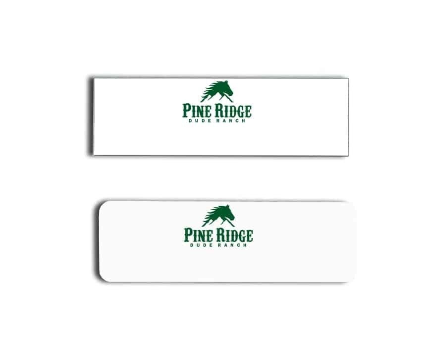 Pine Ridge Dude Ranch Name Badges