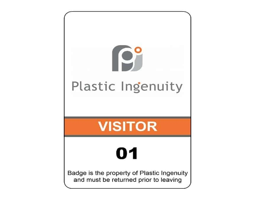 Plastic Ingenuity name badges