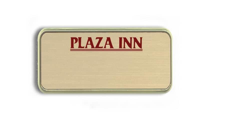 Plaza Inn Name Badges Tags