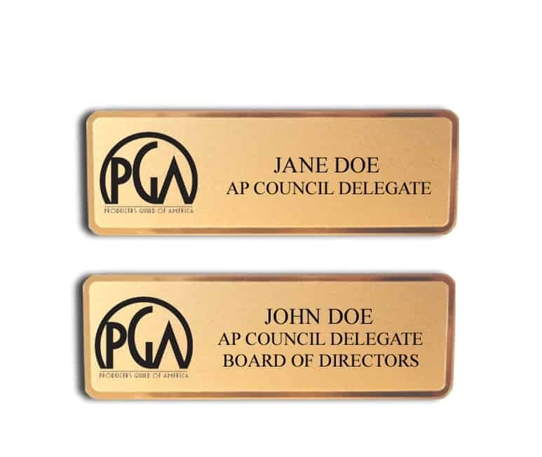 Producers Guild of America name badges