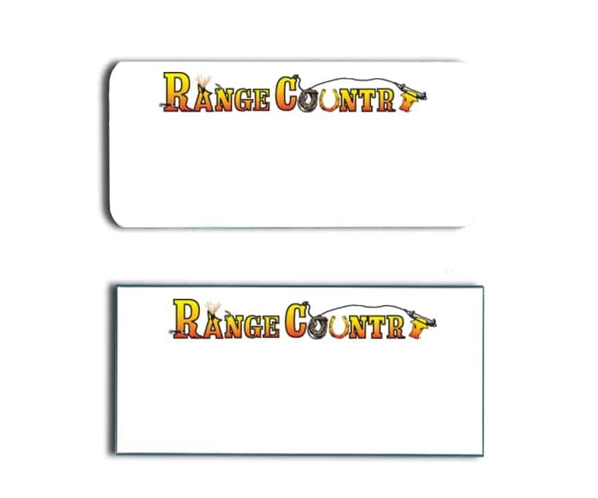 Range Country name badges
