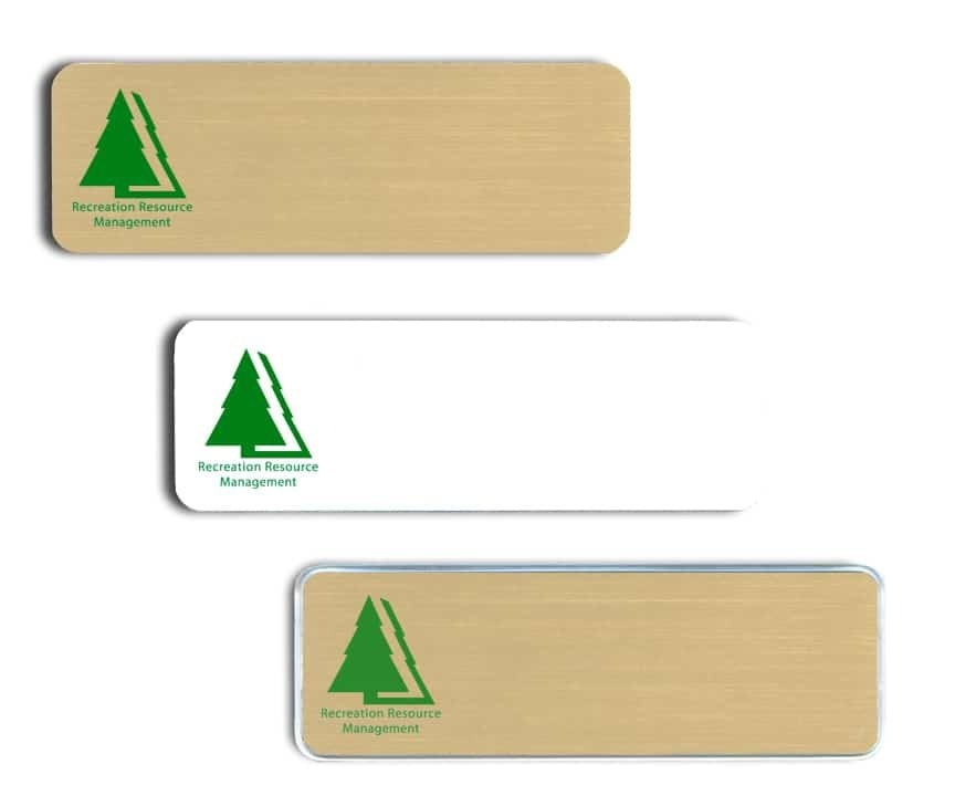 Recreation Resource Management Name Badges