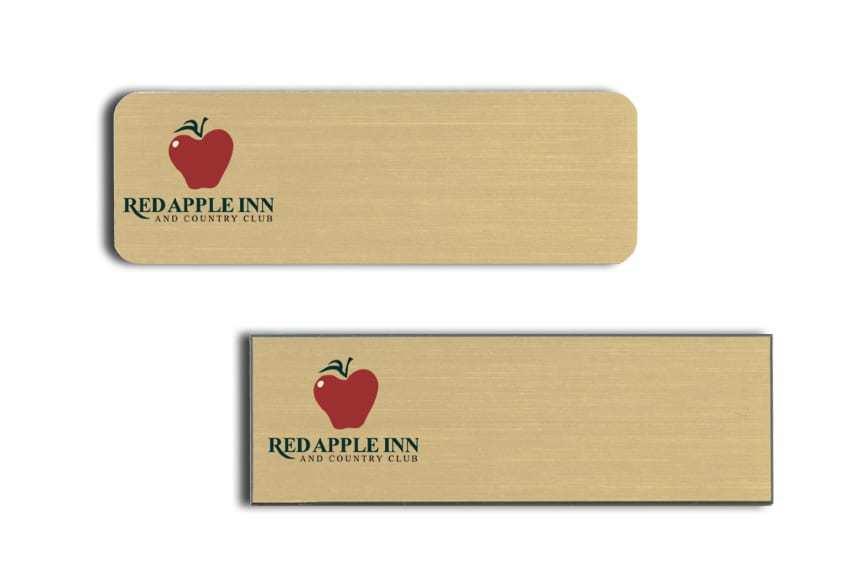 Red Apple Inn name badges