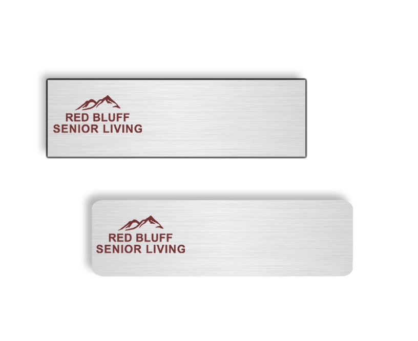 Red Bluff Senior Living name badges tags