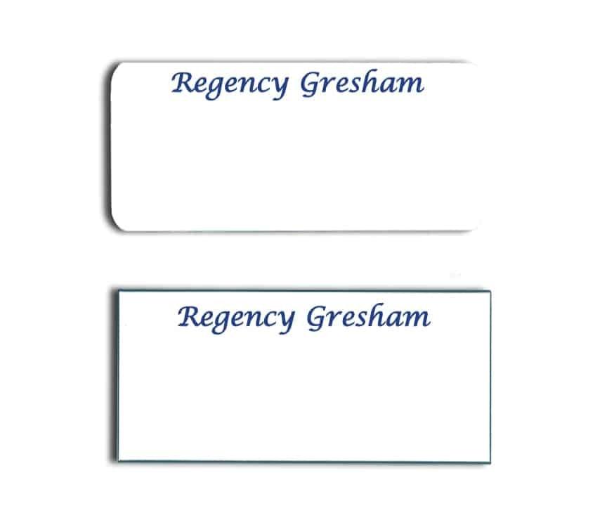 Regency Gresham name badges