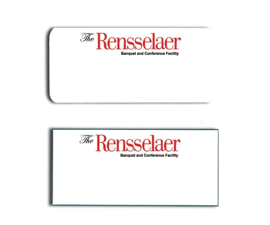 Rensselaer Banquet Facility name badges
