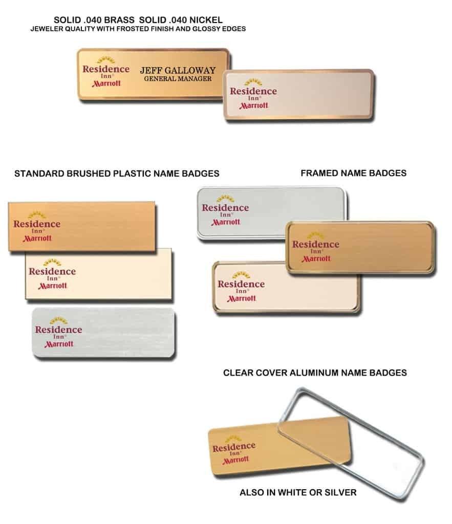 Residence Inn name tags badges
