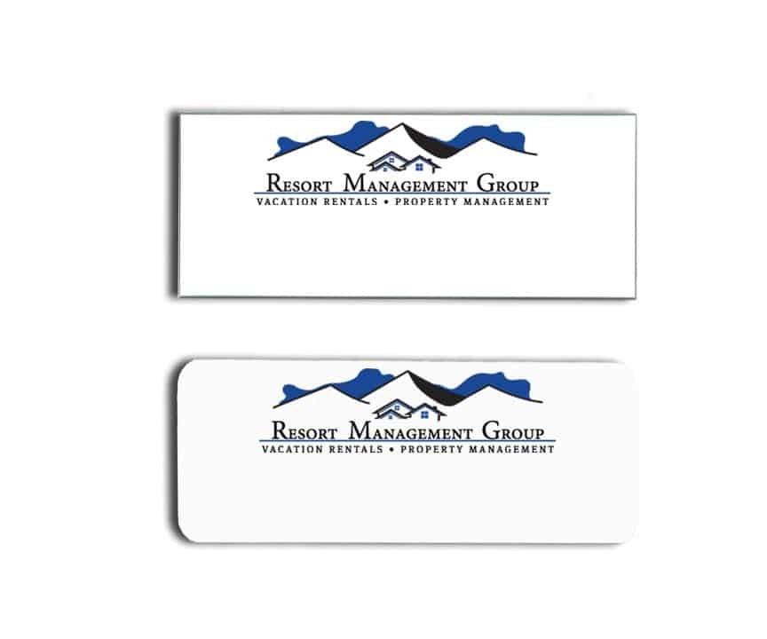 Resort Management Group name badges