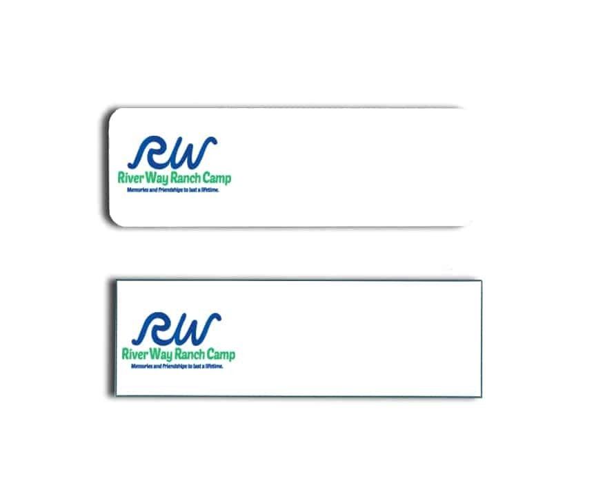 River Way Ranch Camp name badges