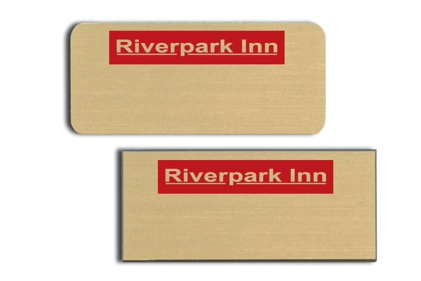 Riverpark Inn name badges