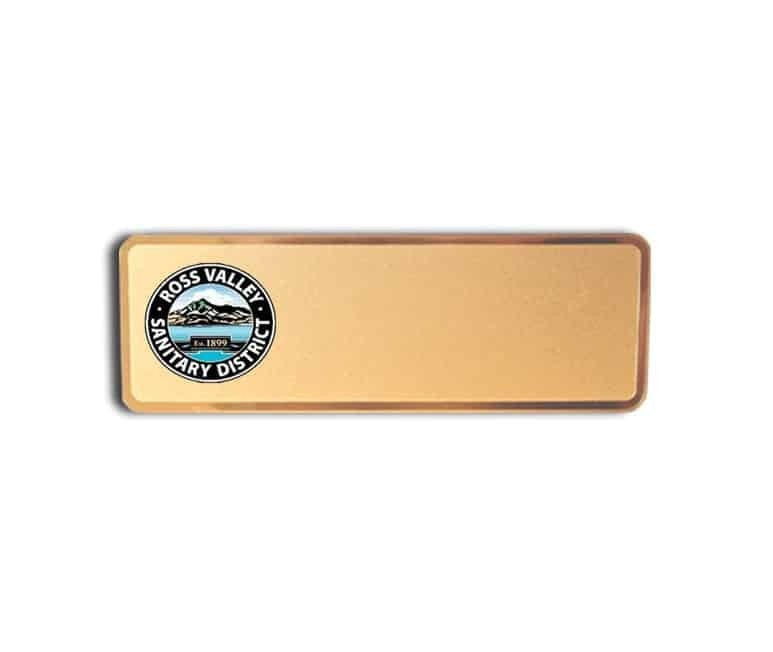 Ross Valley Sanitary name badges