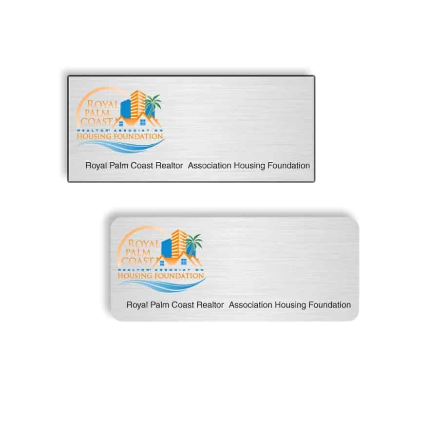 Royal Palm Coast Housing name badges
