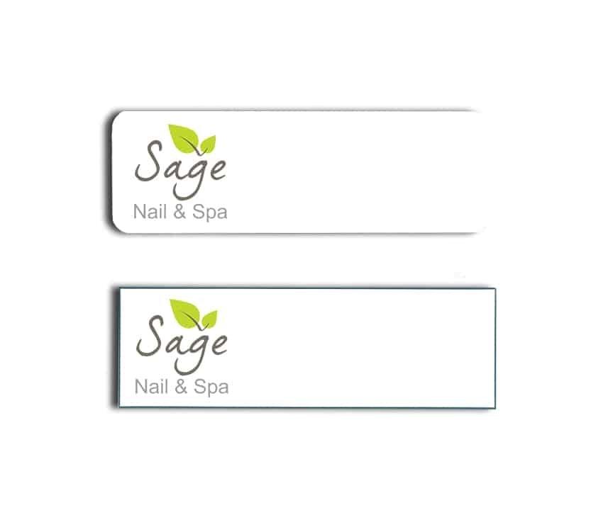 Sage Nail & Spa Name Badges