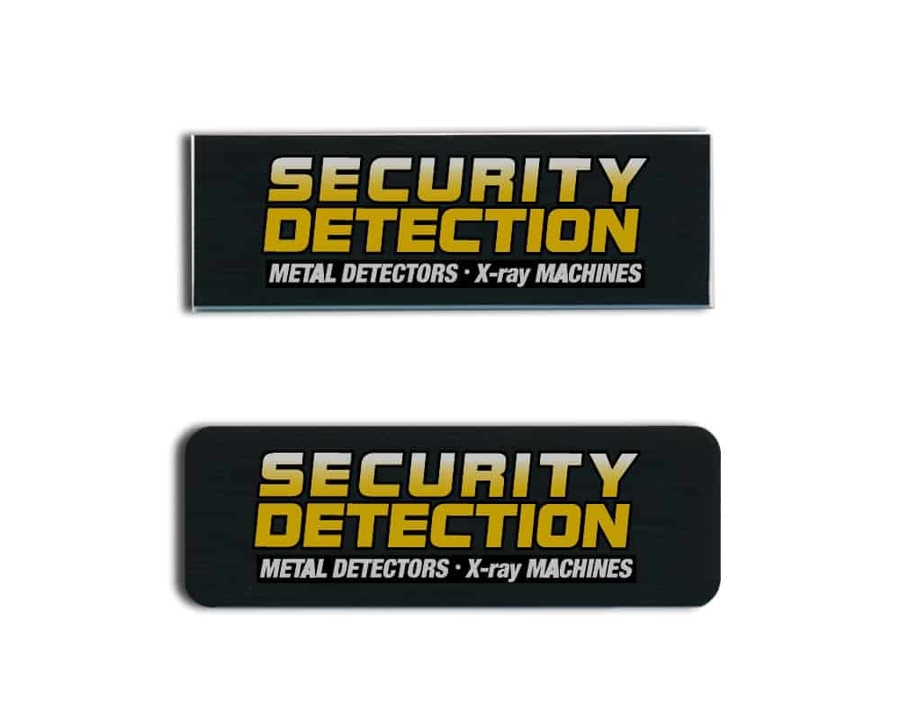 Security Detection name badges tags