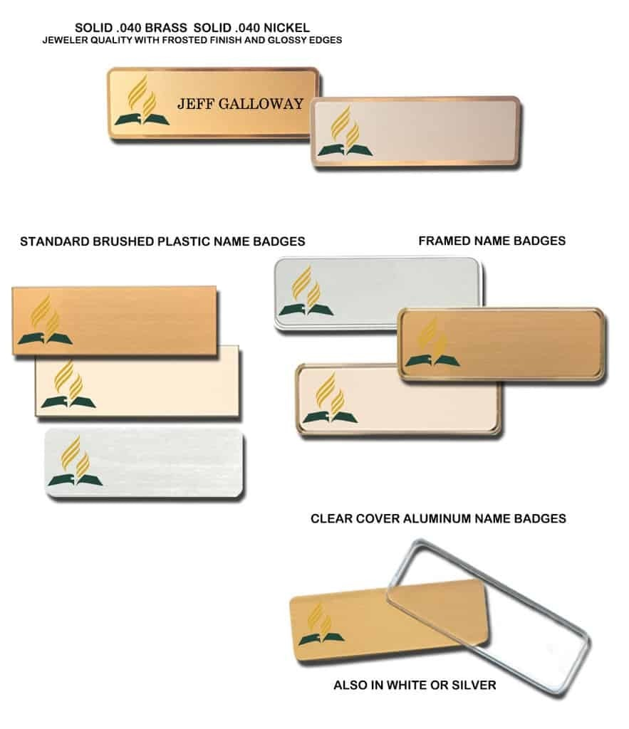 Seventh Day Adventist Name Tags Badges