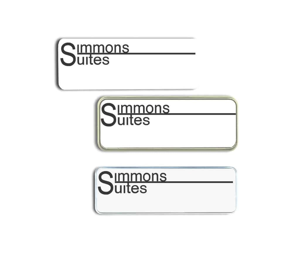 Simmons Suites Name Tags Badges
