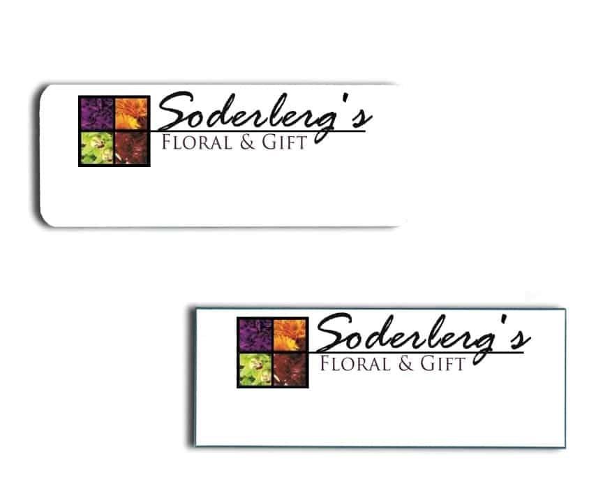 Soderberg's Floral & Gift name badges