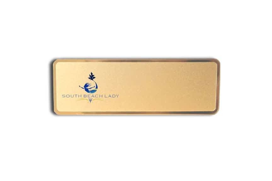South Beach Lady Yacht Name Badges