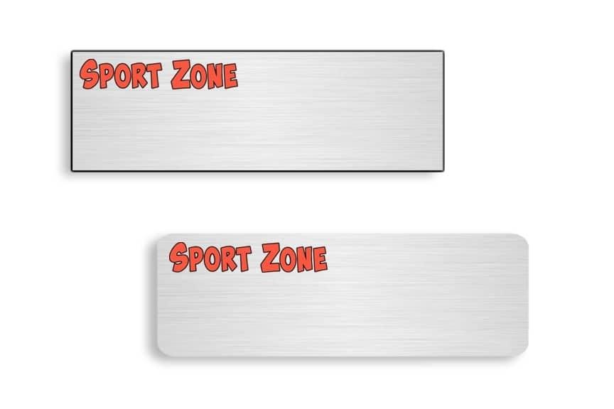 Sport Zone Name Badges