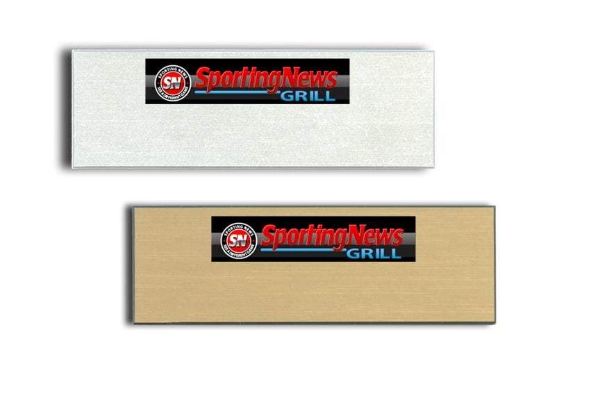 Sporting News name badges tags