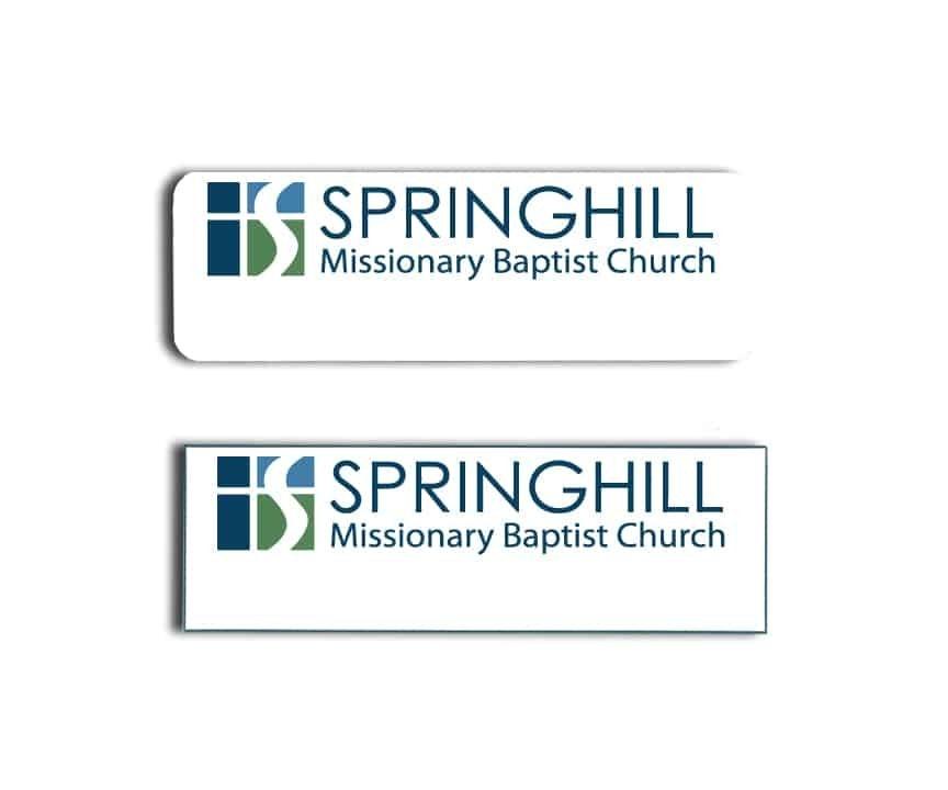 Springhill Baptist Church Name Badges