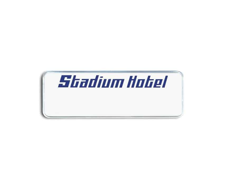 Stadium Hotel Name Badges
