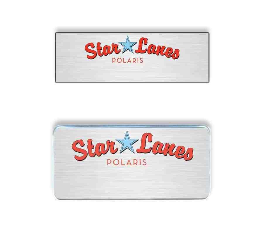 Star Lanes Polaris name badges