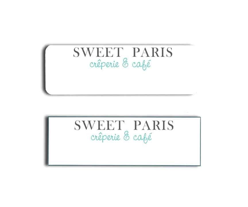Sweet Paris Cafe Name Badge