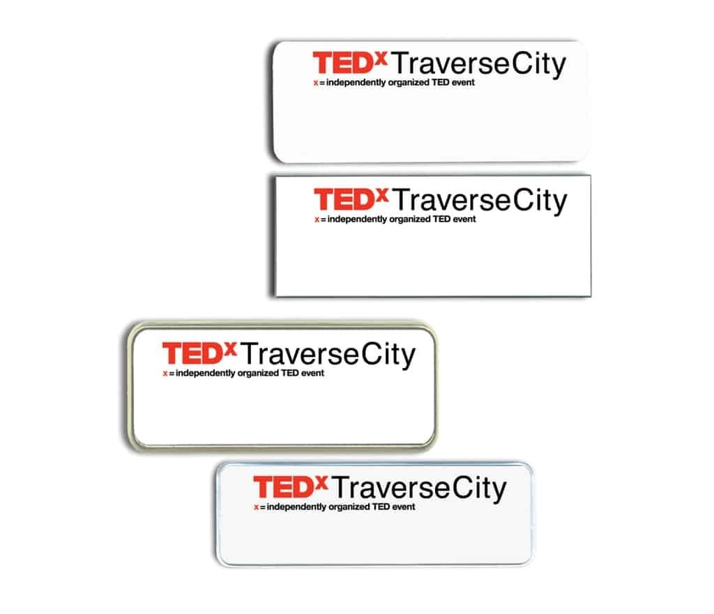 TED Traverse City Name Tags and Badges