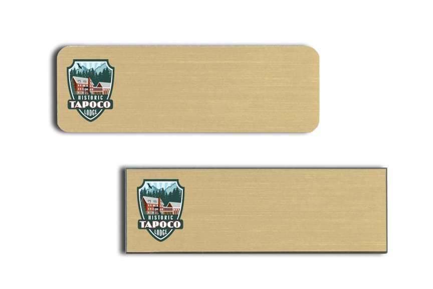 Tapoco Lodge name badges