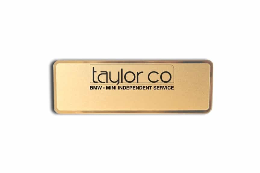 Taylor Co Name Badges