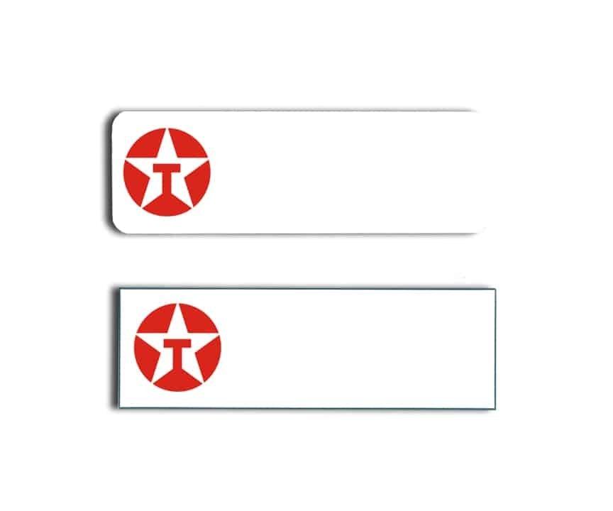 Texaco name badges