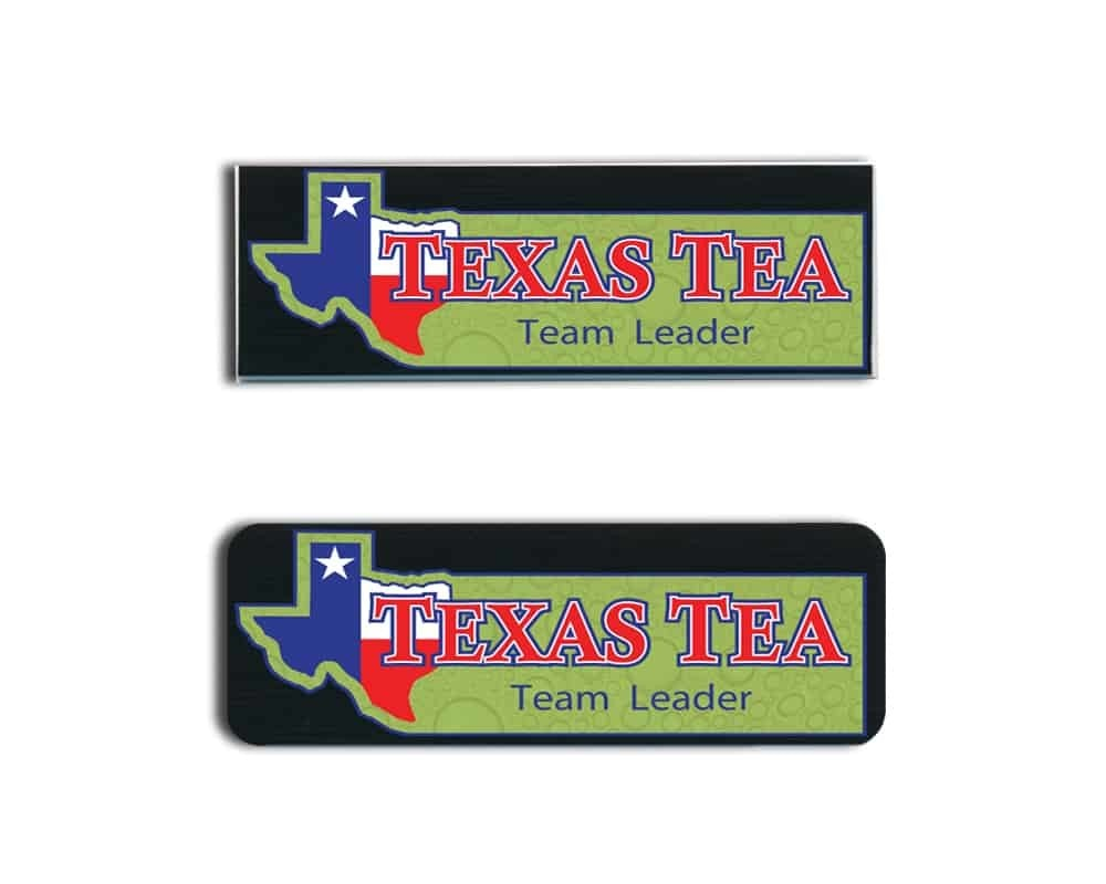 Texas Tea Name Tags Badges
