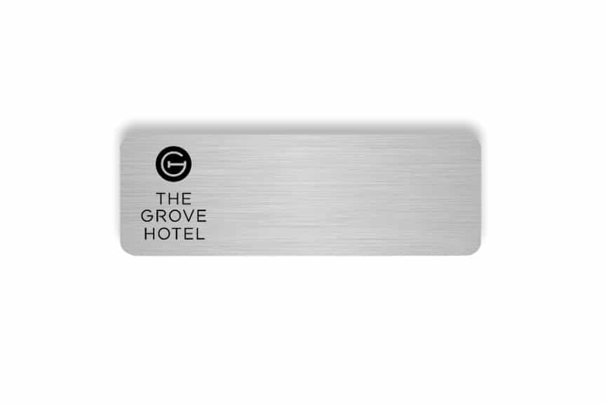 The Grove Hotel name badges