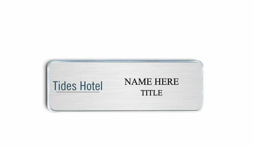 Tides Hotel name badges