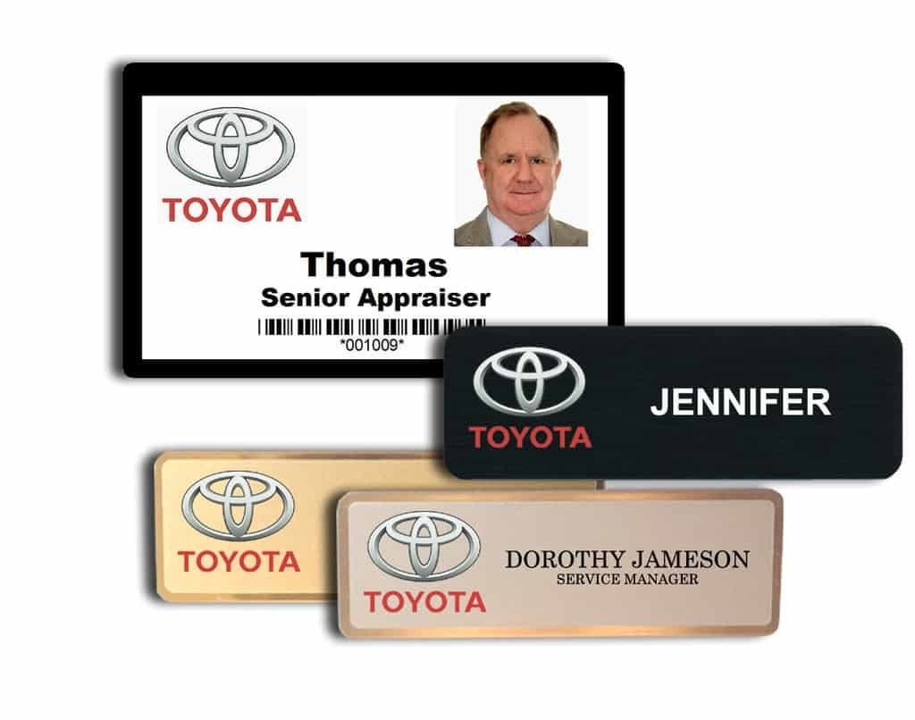 Toyota Name Tags Badges