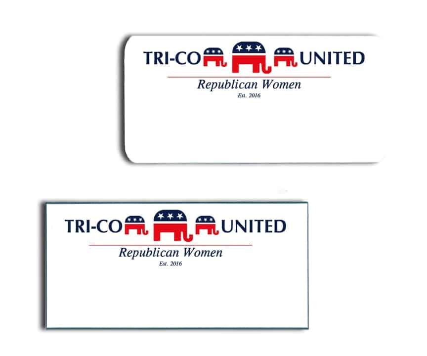 Tri-Co United Republican Women Name Badges