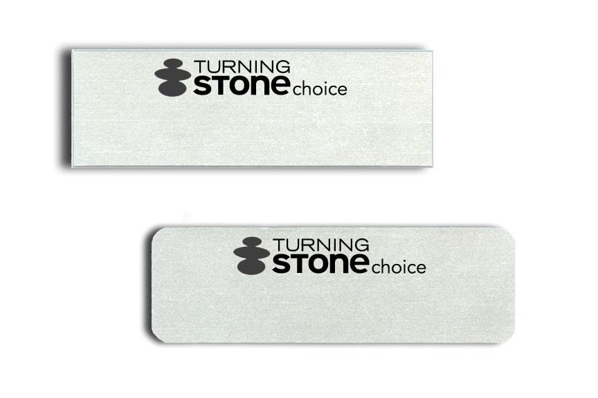 Turning Stone Choice name badges
