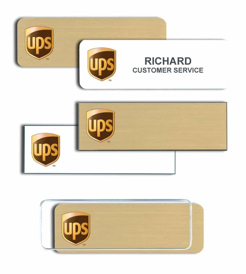 UPS name badges tags