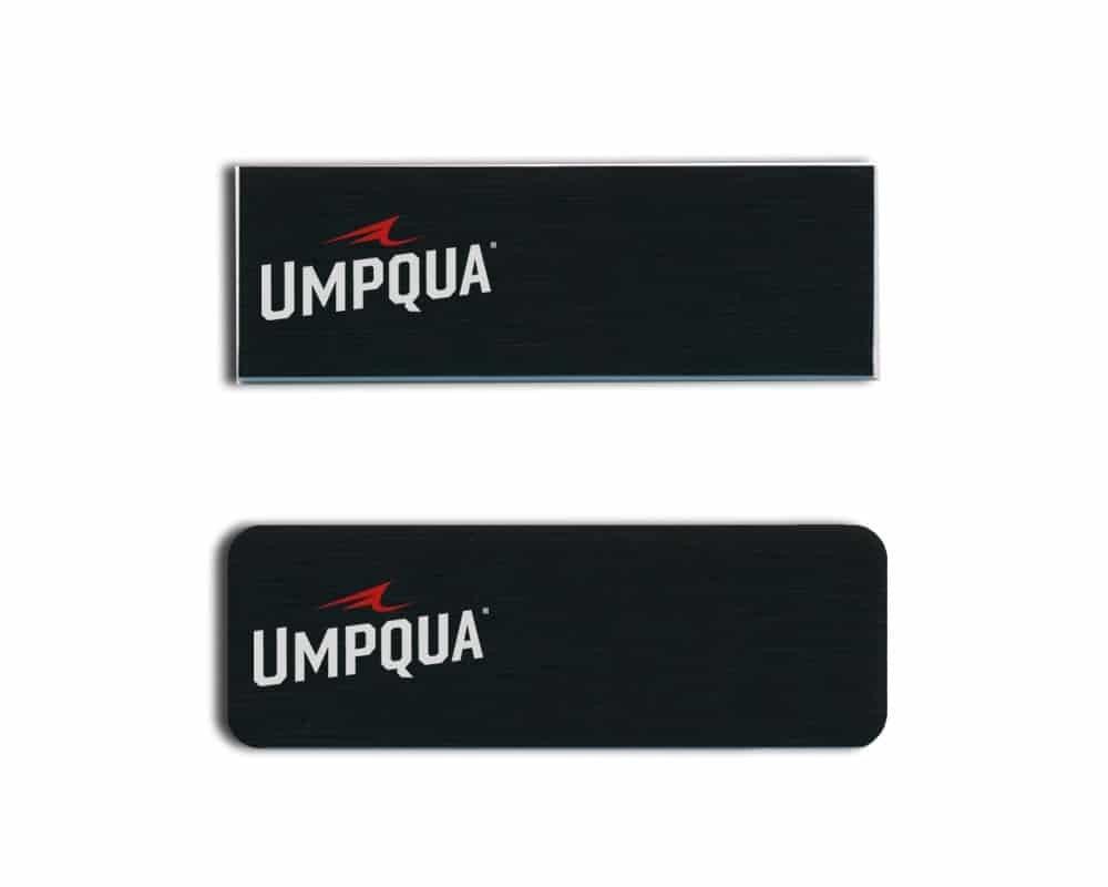 Umpqua name badges