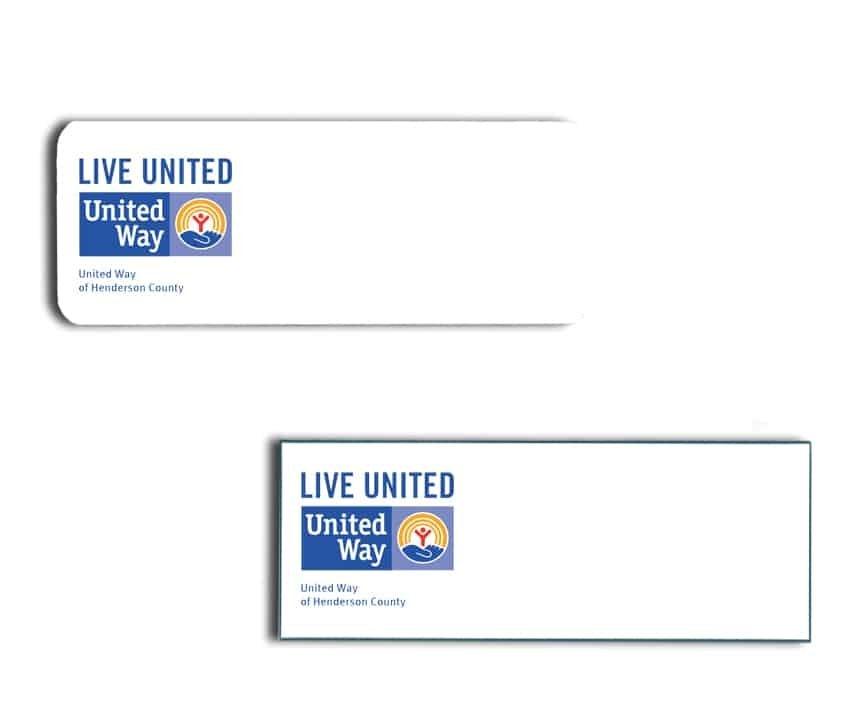 United Way Name Badges