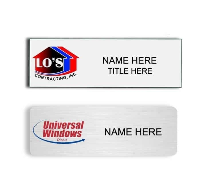 Universal Windows Direct name badges tags