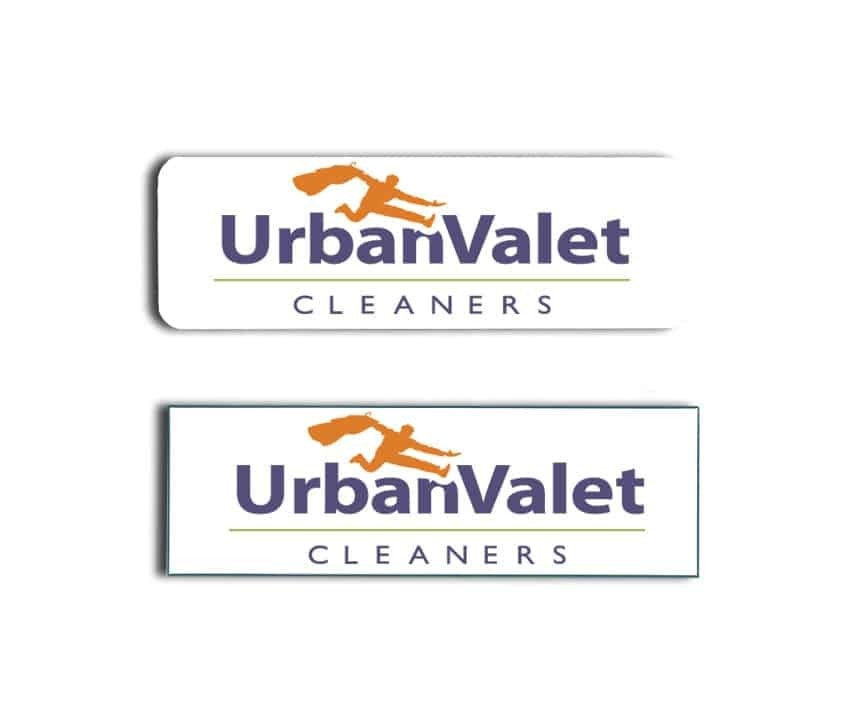 Urban Valet Cleaners Name Tags Badges