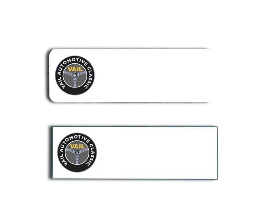 Vail Auto Name Badges