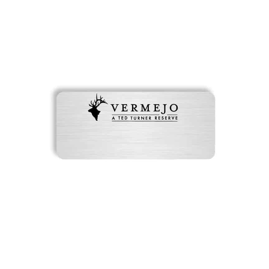 Vermejo name badges tags