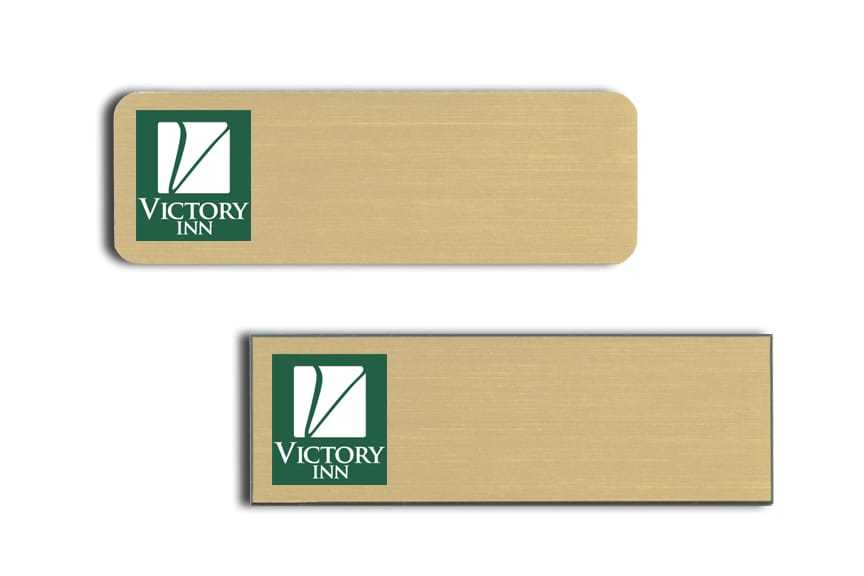Victory Inn name badges