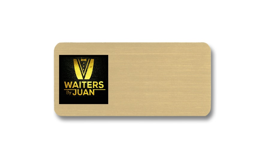 Waiters by Juan name badges