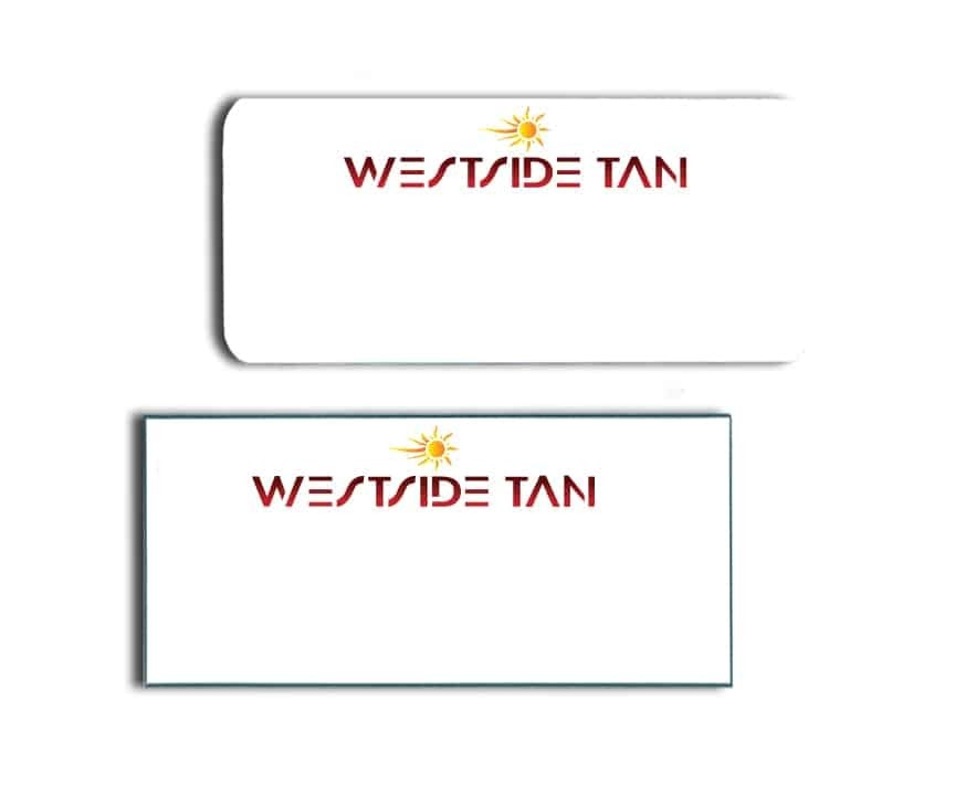 Westside Tan Name Badges