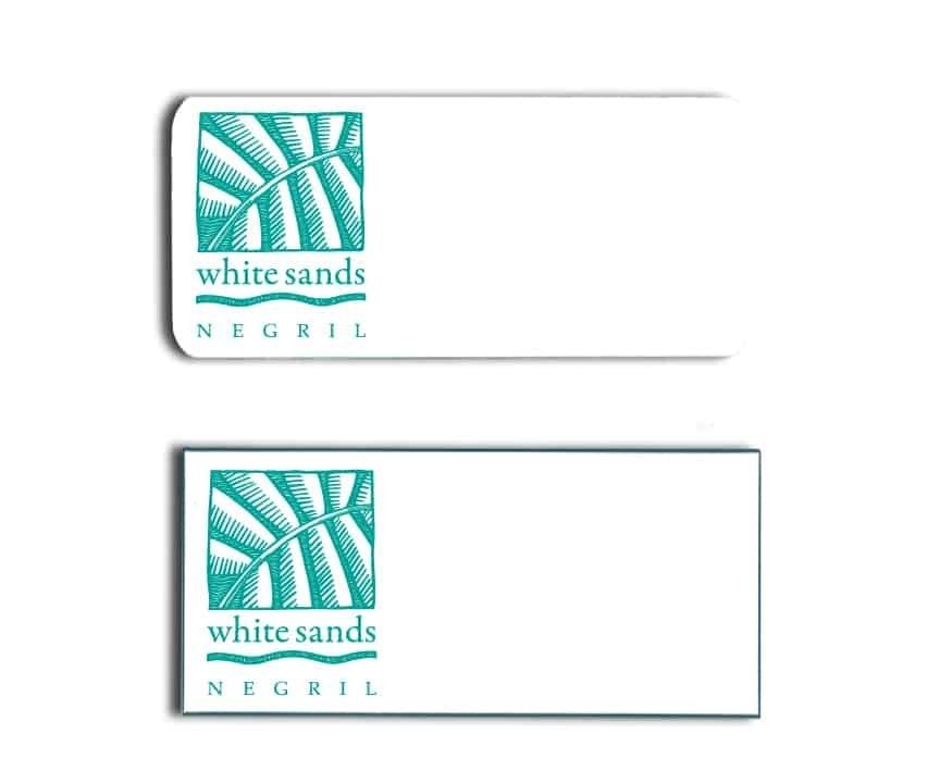 White Sands name badges